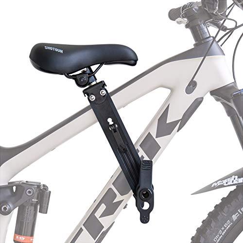 SHOTGUN Kinderfahrradsitz für Mountainbikes | Vorneliegender Fahrradsitz für Kinder von 2-5 Jahren (bis 22kg) | Kompatibel mit Allen Erwachsenen-MTBs | Einfache Installation