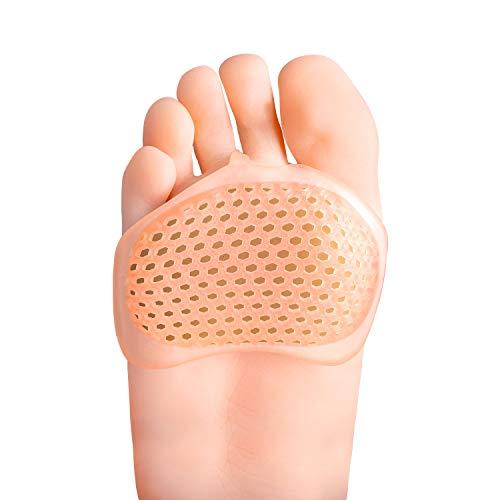 Bukihome Fußpads Silikon, 8 STÜCKE Gel Vorfußpolster für Frauen und Männer, Fußpolster, Fußballen Metatarsal, Morton Neurom Einlagen für - Kallus, Mittelfußschmerzen