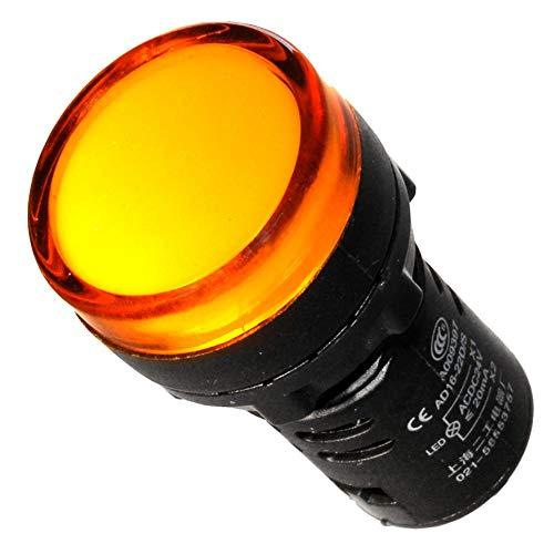 Leuchtmelder gelb 230V 22mm Signalleuchte Kontrolleuchte