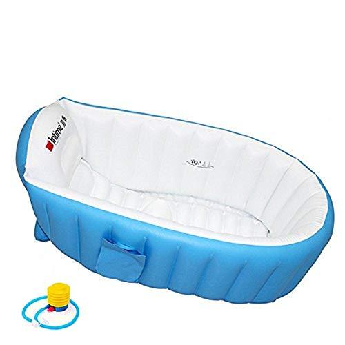 Locisne Aufblasbare Baby Badewanne Kinder Schwimmbad Jungen Air Bäder Summer Schwimmbecken Anti-Rutsch Pool faltbar für unterwegs dick Baby Schwimmbecken Badewannensitz Stuhl (für 0-3 Jahre)