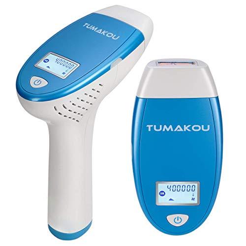 TUMAKOU IPL Haarentfernungsgerät T6 – Lichtbasierte Dauerhafte Haarentfernung für Frauen und Männer – 400000 Lichtimpulsen für Körper, Gesicht, Bikini Zone, Achseln, dauerhaft glatte Haut