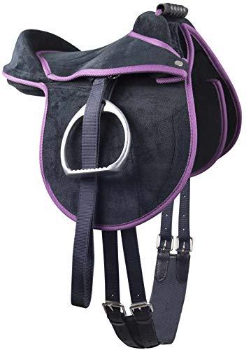 Kinder Pony Reitkissen   Ponysattel komplettes Set mit Stick und Schlüsselanhänger auch für Holzpferde geeignetes Sattelset   Cub Saddle Set