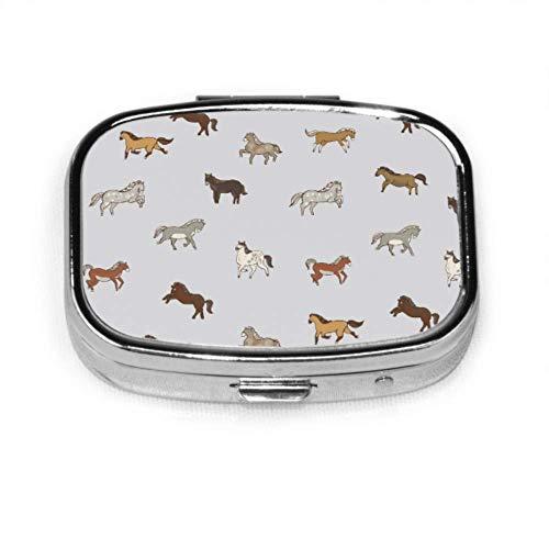 Pferd Vivildy Laufen Tier Pille Fall Mode Tag Abend Pille Fall Tablet Halter Wallet Organizer Fall für Tasche oder Geldbörse