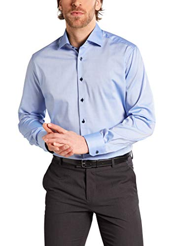 eterna Langarm Hemd Modern Fit Pinpoint unifarben