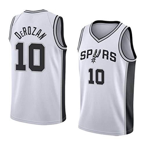 FURUN Basketball Trikot NBA San Antonio Spurs # 10 Demar DeRozan Atmungsaktives, verschleißfestes Fan-T-Shirt