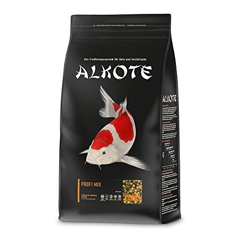 AL-KO-TE, 3-Jahreszeitenfutter für Kois, Frühjahr bis Herbst, Schwimmende Pellets, 6 mm, Hauptfutter Profi Mix, 3 kg