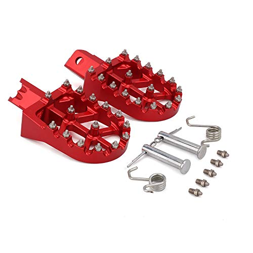Fußrasten Fußrasten Pedale Universal CNC Bunte Für HONDA CRF XR 50 70 110 M2R SDG DHZ SSR KAYO Pit Bike Motorrad,Rot