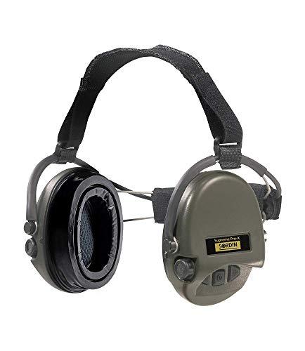 Sordin Supreme PRO X Neckband Aktiver Gehörschutz 76302-X-10 mit Gel-Hygiene-Kit - Elektronischer Gehörschützer SNR: 25dB Grün