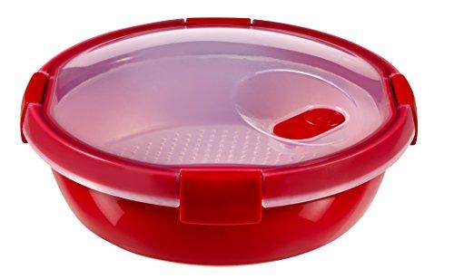 CURVER Runder Behälter MICRO-WAVE STEAMER 1,0L Runder Behälter, Kunststoff, rot, 20x20x9, 6