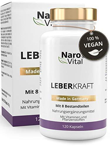 Mariendistel - 80% Silymarin, Artischocken, Löwenzahn, Curcuma, Cholin & Desmodium - Komplex für die Leber (wichtigstes Entgiftungs-Organ) - 120 Kapseln - Vegan - Milk thistle