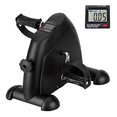 Uten Arm und Beintrainer Mini Bike sportgerät für Büro Hause, Heimtrainer mit LCD Monitor, Einstellbarer Widerstand für Jungen und Senioren