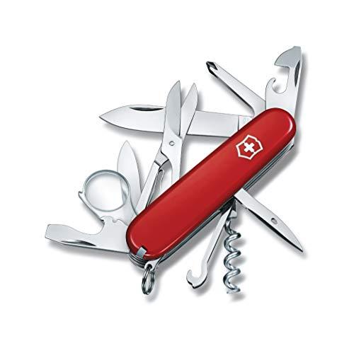 Victorinox Taschenmesser Explorer (16 Funktionen, Lupe, Phillips-Schraubendreher, Schere) rot