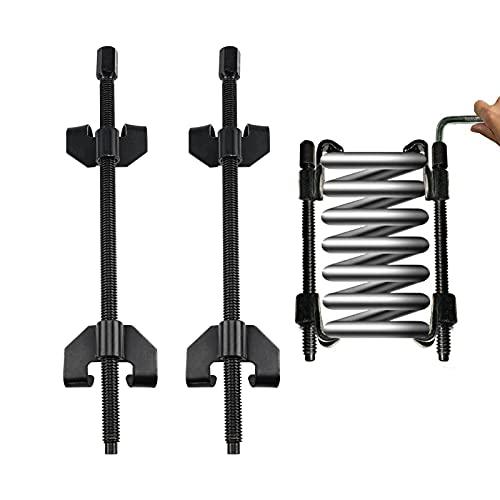 Trintion Federspanner 380mm Auto-Federspanner Federbeine Tieferlegung Fahrwerksfeder 2tlg für Universal PKW KFZ Tieferlegung Stossdämpfer Montagespanner Werkzeug