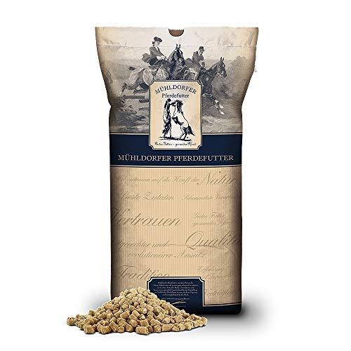 Mühldorfer Reiskleie, 20 kg, Öl- und Getreideersatz für Pferde, effizienter Energielieferant, fütterungsfertig pelletiert