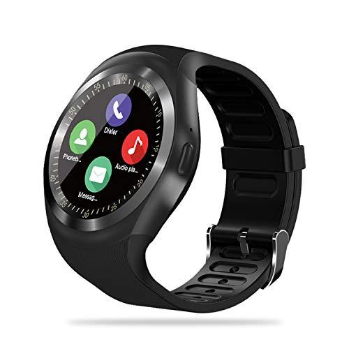 FENHOO Smartwatch, Fitness Uhr Fitness Tracker Damen Herren Kinder mit SIM Karte Slot Musik Player Stoppuhr Sportuhr mit Schrittzähler Kalorien Anruf SNS Fitnessuhr für Android