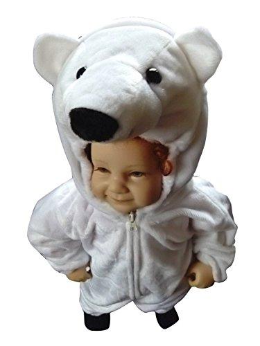 Eisbären-Kostüm, F24 Gr. 92-98, für Klein-Kinder, Babies, Eis-Bären Kostüme Fasching Karneval, Kleinkinder-Karnevalskostüme, Kinder-Faschingskostüme,Geburtstags-Geschenk Weihnachts-Geschenk