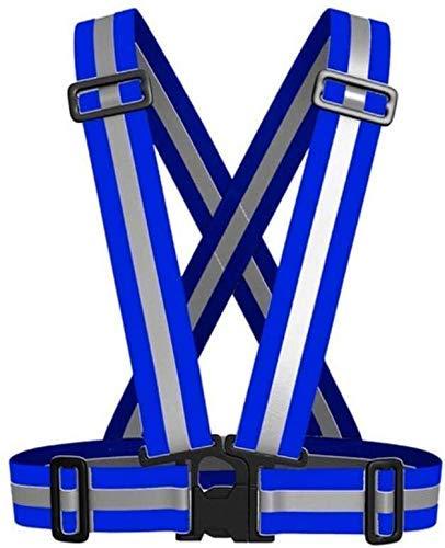 Multifunktionale reflektierende Kleidung Weste Reflektierende Sicherheits Adjustable Unisex Außen Reflektierende Gürtel Sicherheitsweste Sicherheitsweste Fit for das Laufen Radfahren Sport und Outdoor