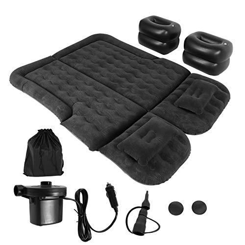 SUV Luftmatratze, Auto Luftmatratze Fahrzeug aufblasbare verdickte Reisebett Isomatte Camping Zubehör(schwarz)
