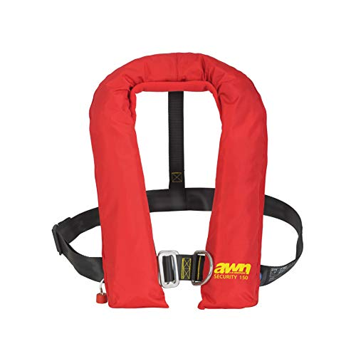 AWN Security 150 L Automatische Rettungsweste Aufblasbare Schwimmweste 3001S Automatik integrierter Lifebelt 150 N