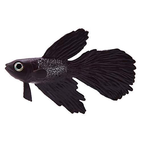 Künstliche Fische Silikon Fische Silikon Goldfisch Betta Fisch Lebensechte Künstliche Fische Ornament Schwimmende Fische Aquarium Dekoration Künstliche Bunte Fische (Brauner Betta Fisch)