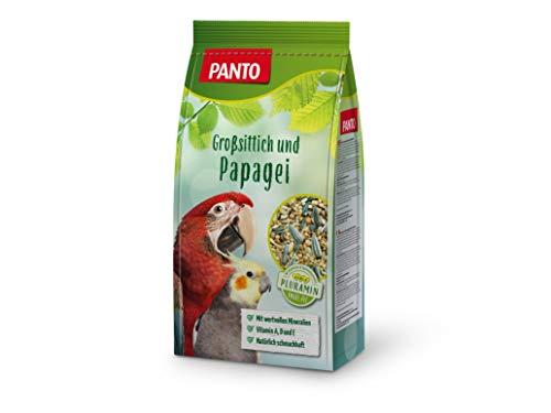 Panto Ziervogelfutter, Großsittich- und Papageienfutter 1 kg, 5er Pack (5 x 1 kg)
