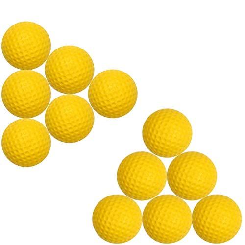 JOEE 12pcs Soft Golfbälle aus PU-Schaumstoff,Soft Elastic Golf Indoor Bälle,Outdoor Praxis Golfbälle,weiche Bälle für Kinder und Haustiere, Spielzeug(gelb)