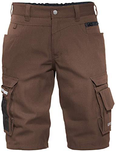 Uvex Perfexxion Premium 3854 Kurze Herren-Arbeitshose - Braune Männer-Shorts 52