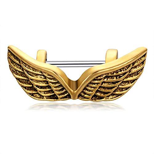 Eule Ohr Knorpel/Helix Manschette Langhantel Gold Krone chirurgische Stahl Langhantel Piercing Bar Tragus Ohrring Piercing Kits
