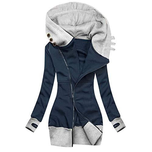 YINGXIONG Winterjacke Damen Mit Kapuze Fell Kragen Fleece Warme Gefüttert Winter Jacke Parka Lang Mantel Wintermantel Daunenjacke Winterparka