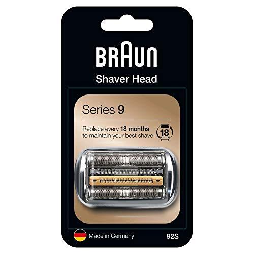 Braun Series 9 92S Elektrorasierer Ersatzscherteil – silber – kompatibel mit Series 9 Rasierern