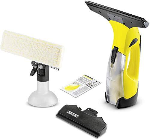 Kärcher Akku Fenstersauger WV 5 Plus N (Akkulaufzeit: 35 min, entnehmbarer Akku, 2 Absaugdüsen - schmal/breit, Sprühflasche mit Mikrofaserbezug, Fenstereiniger-Konzentrat 20 ml)