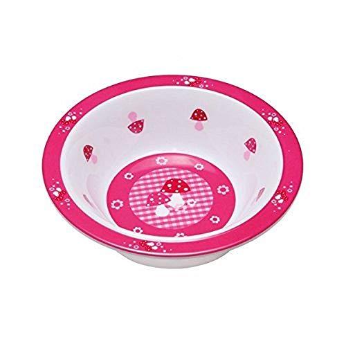 LÄSSIG Schüssel Kinder Baby Kleinkind rutschfest spülmaschinengeeignet Melamin/Bowl Mushroom Magenta