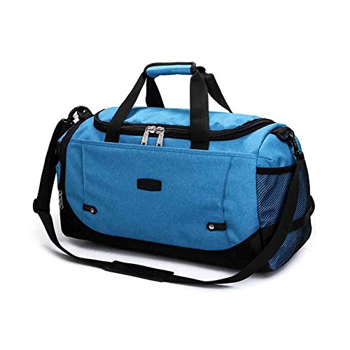 LGQ-HWB Übergroße Canvas Reisetasche, Handtasche Wochenende Handtasche Handtasche Schultertasche Messenger Bag Unisex Business-Tasche (Farbe : Blau)