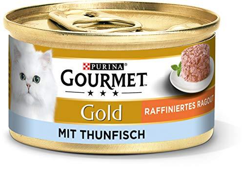 PURINA GOURMET Gold Raffiniertes Ragout Katzenfutter nass, verschiedene Sorten, 12er Pack (12 x 85g)