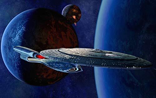 72Tdfc - DIY Malen Nach Zahlen-Star Trek Filmplakat - Vorgedruckt Leinwand-Ölgemälde Geschenk Für Erwachsene Kinder Kits Home Haus Dekor - 40*50 cm