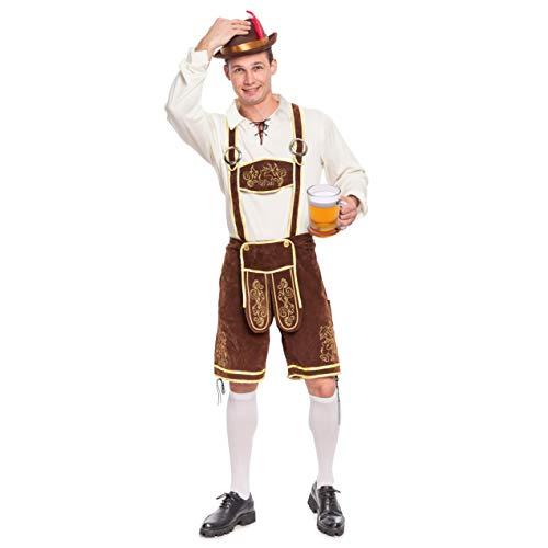 Spooktacular Creations Herren Bayerisches Oktoberfest Kostüm Set für Halloween Dress Up Party, Fasching, Wiesn und Bierfest (Medium)