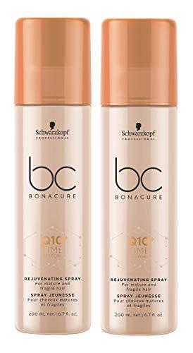 2er Q10 Time Restore Rejuvenating Spray für reifes Haar Bonacure Schwarzkopf Professional 200 ml