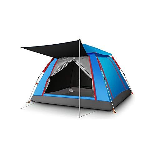 Zelt 1 und 2 Personen Ultraleichte Camping Zelt Zelt, automatisches Außenzelt, Camping-Zelt, Außen Faltzelt, dicker wasserdichter und regensicher 3-4 Person Anzug, automatischer Schlaf Einfach Falten,