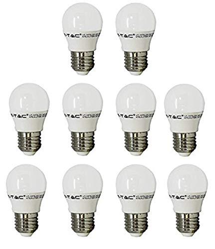 V-TAC LED 3 W G45 Golf Ball Leuchtmittel - 10 Stück - E27/ES/Standard Edison Schraube Gap - Cool weiß 6400 K/250 Lumen/Kunststoff-Finish/entspricht 25 W Glühlampe