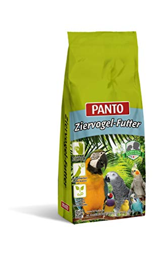 Panto Ziervogelfutter, Papageienfutter mit Nüssen & Pluramin 20 kg, 1er Pack (1 x 20 kg)