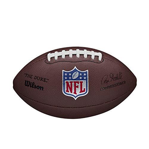 Wilson American Football NFL Duke Replica, Mischleder, Offizielle Größe, Braun, WTF1825XBBRS