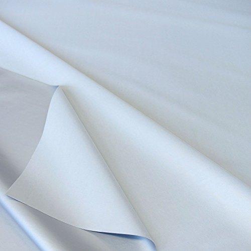 TOLKO Sonnenschutz Verdunkelungsstoff Meterware in 6 Farben | 100% Lichtdicht, Thermo-Beschichtung | als Fensterfolie, Verdunkelungsvorhang/Gardine, Verdunklungsrollo (Hellgrau)