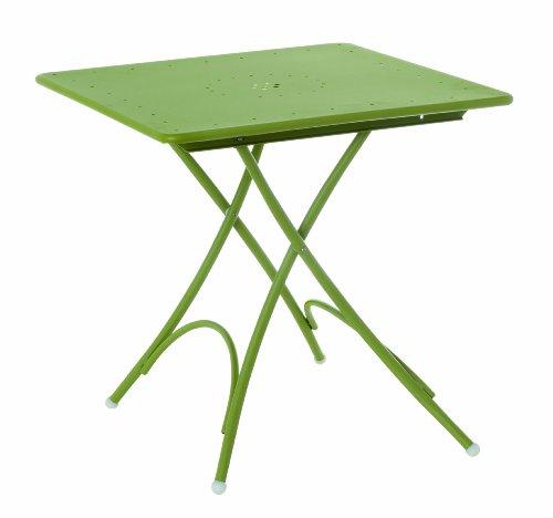 Emu 309076000N Pigalle Klapptisch 907, 76 x 76 cm, pulverbeschichteter Stahl, grün