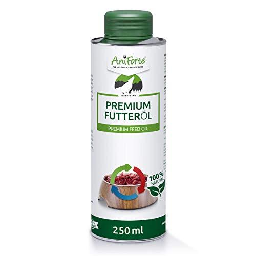 AniForte Barf Futteröl für Hunde 250ml - kaltgepresstes Premium Öl, idealer Barf Zusatz fürs Futter, Hochwertiges Barf Öl, Natürlich, Artgerecht und Ausgewogen, Recyclebare Verpackung ohne BPA