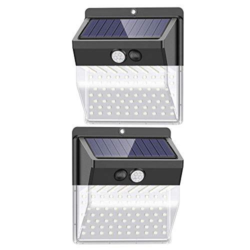 Solarleuchten Außen 172 LED, 2er Pack【Neueste Version 2500mAh】Solar Bewegungssensor Sicherheitsleuchten mit 270 ° Weitwinkel, 3 Beleuchtungsmodi, IP65 Wasserdichte solarbetriebene Lampe für den