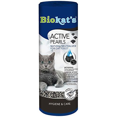 Biokat's Active Pearls - Streuzusatz mit Aktivkohle verbessert Geruchsbindung und Saugfähigkeit der Katzenstreu - 1 Dose (1 x 700 ml)