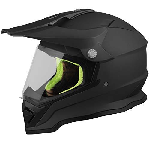 Crosshelm Motocross Enduro RALLOX 819 Helm Größe M Motorradhelm Integralhelm schwarz matt mit Visier