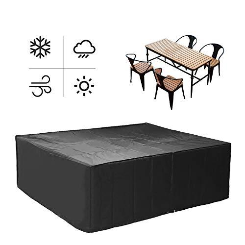 MVPower Abdeckung Schutzhülle Abdeckplane Abdeckhaube für Gartenmöbel und für rechteckige Sitzgarnituren, Gartentische und Möbelsets (250 * 200 * 80cm)