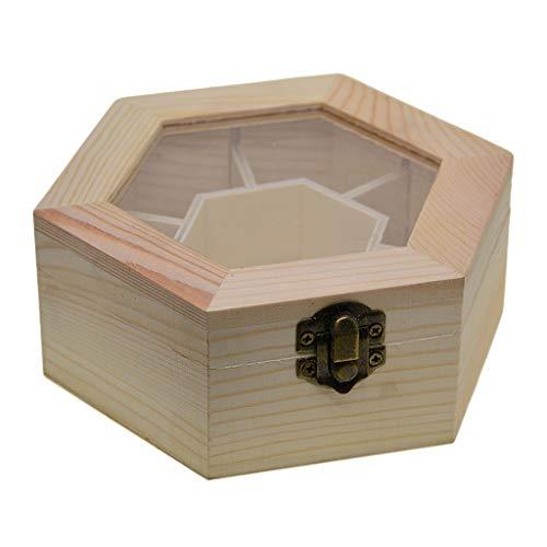Baoblaze Aufbewahrungsbox kleine Holzschatulle, Schmuckkästchen, Holz unbehandelt