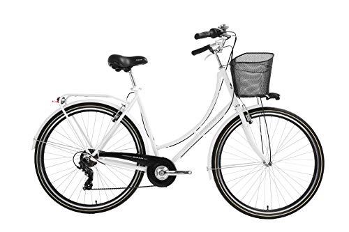 T&Y Trade 28 Zoll Damen City Rad Holland Fahrrad Bike CITYFAHRRAD DAMENFAHRRAD HOLLANDFAHRRAD HOLLANDRAD DAMENRAD Rad Bike Shimano 7 Gang Paradise S 2020 Weiß